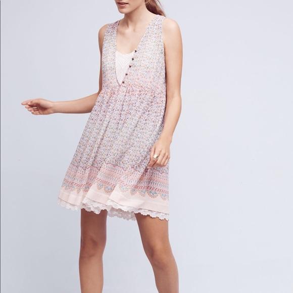 Anthropologie Dresses & Skirts - Anthropologie Maeve Violetta Dress Floral Layered